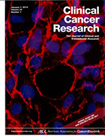 Clinical Cancer Research Journal Cover Photo