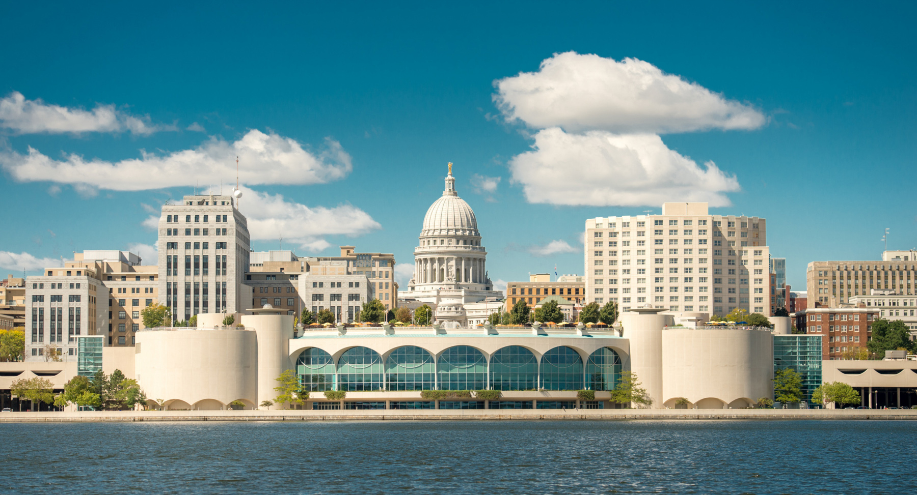 A view of Madison from Lake Monona