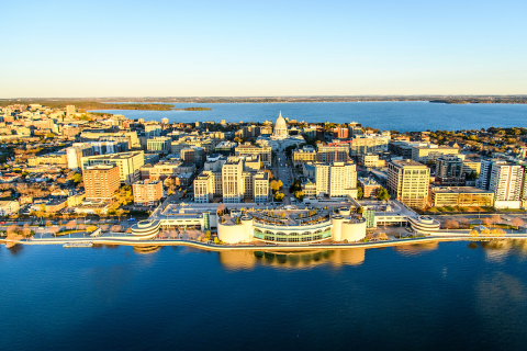 Aerial image of Madison, WI