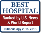 Best Hospital Ranked by U.S. News & World Report Pulmonology 2015-2016